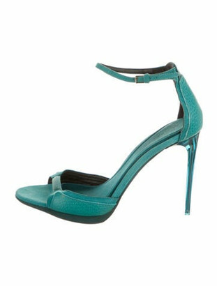 Burberry Leather Sandals Blue