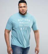 Tommy Hilfiger Plus Ryan Logo T-Shirt In Light Blue