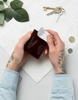 Asos Leather Card Holder With Cactus Emboss