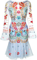 Temperley London Porcelain fitted dress