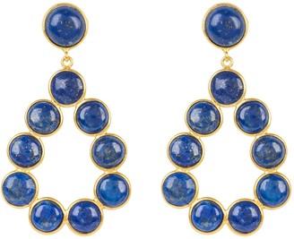 Latelita Hatun Gemstone Statement Earrings Gold Lapis Lazuli