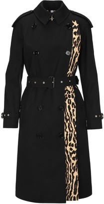 Burberry Llopard-print Lined Trench Coat
