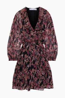 IRO Pacify Ruffle-trimmed Georgette Mini Wrap Dress