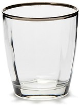 Vietri Optical Platinum Double Old Fashioned Glass