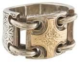 Konstantino Two-Tone Cross Ring
