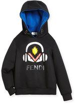 Boy's Monster w/ Headphones Hooded Sweatshirt, Size 6-8