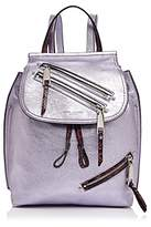 Marc Jacobs Zip Pack Embossed Trim Metallic Leather Backpack