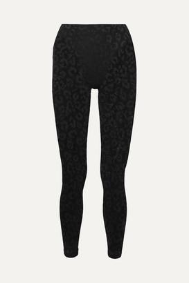 Adam Selman Leopard-print Stretch-mesh Leggings