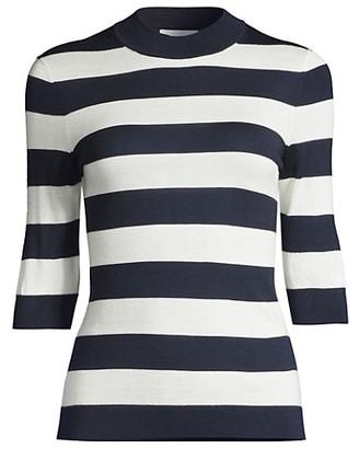 HUGO BOSS Faleena Superfine Merino Stripe Knit