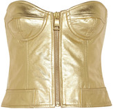 Moschino Metallic leather bustier