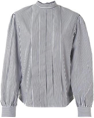 MSGM Striped Mock-Neck Blouse