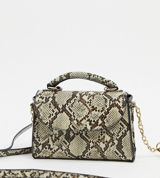 My Accessories London Exclusive cross body bag in snake