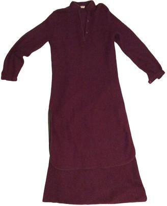 Genny Burgundy Dress for Women Vintage