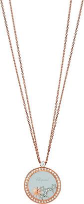 Chopard Happy Diamonds 18k Rose Gold Sun, Moon & Stars Pendant Necklace