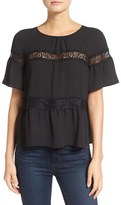 Women's Chelsea28 Lace Inset Peasant Top