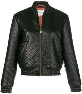 Gucci Matelasse Bomber Jacket