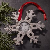 Crate & Barrel Snowflake Photo Frame Ornament with 2016 Charm