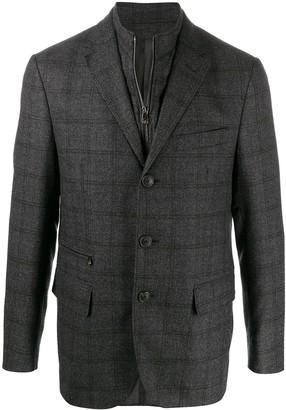 Corneliani checked fitted blazer