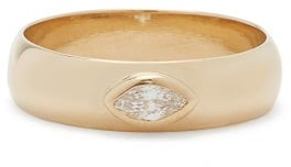 Zoë Chicco Diamond & 14kt Gold Wide-band Ring - Gold