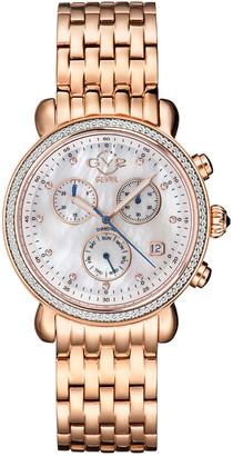 Gv2 Marsala Chronograph Women's Diamond Swiss Quartz Watch