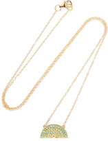 Andrea Fohrman Rainbow 14-karat Gold, Turquoise And Diamond Necklace - one size