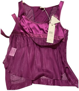 Byblos Purple Silk Top for Women