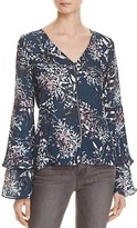 Parker Roesia Printed Silk Top