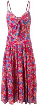 Lhd Floral Print Strappy Midi Dress