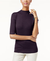 INC International Concepts Mock-Neck Ribbed Sweater, Only at Macy's