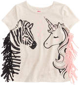 Epic Threads Zebra & Unicorn Graphic-Print T-Shirt, Little Girls, Created for Macy's