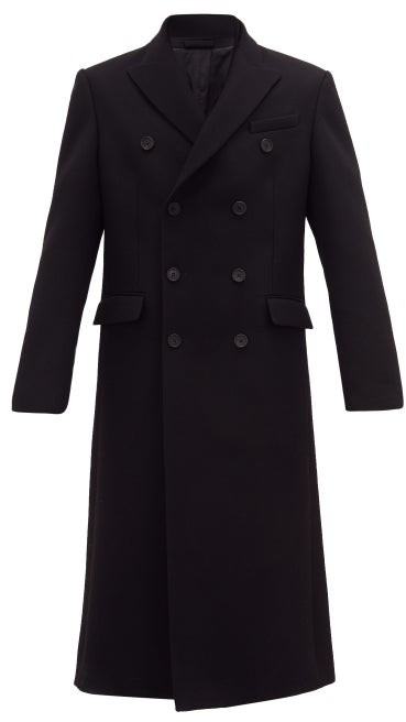 Wardrobe NYC Release 05 Double-breasted Wool-twill Overcoat - Black
