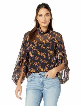 C/Meo Women's Heartbreaker Longsleeve Floral Blouse TOP