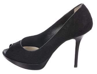 eb41e0469f Dior Lace Peep Toe - ShopStyle
