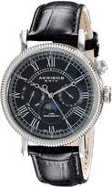 Akribos XXIV Men's AK610BK Ultimate Multi-Function Swiss Quartz Leather Strap Watch