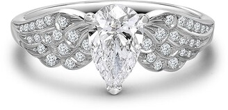 Pragnell Platinum Pear Shaped Diamond Tiara Ring