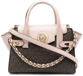 MICHAEL Michael Kors Carmen leather belted satchel