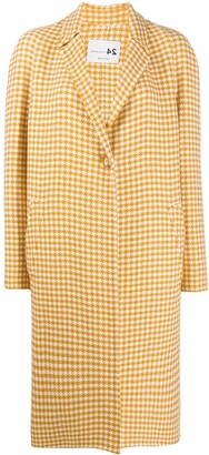 Manzoni 24 Dogtooth Pattern Coat