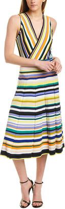 Milly Surplice Midi Dress