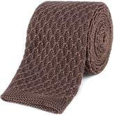 Gibson Brown Honeycomb Textured Knitted Tie