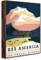 """Bed Bath & Beyond Vintage Travel """"Welcome to Montana"""" Wall Art"""