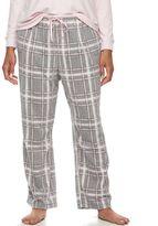 Croft & Barrow Plus Size Pajamas: Microfleece Pajama Pants