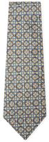 Vintage Blue Mosaic Silk Tie