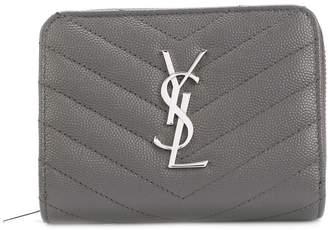 Saint Laurent zip around purse