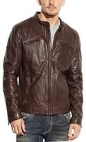 Rogue Men's Leather Café Racer Jacket