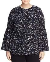 MICHAEL Michael Kors Star-Print Bell-Sleeve Top