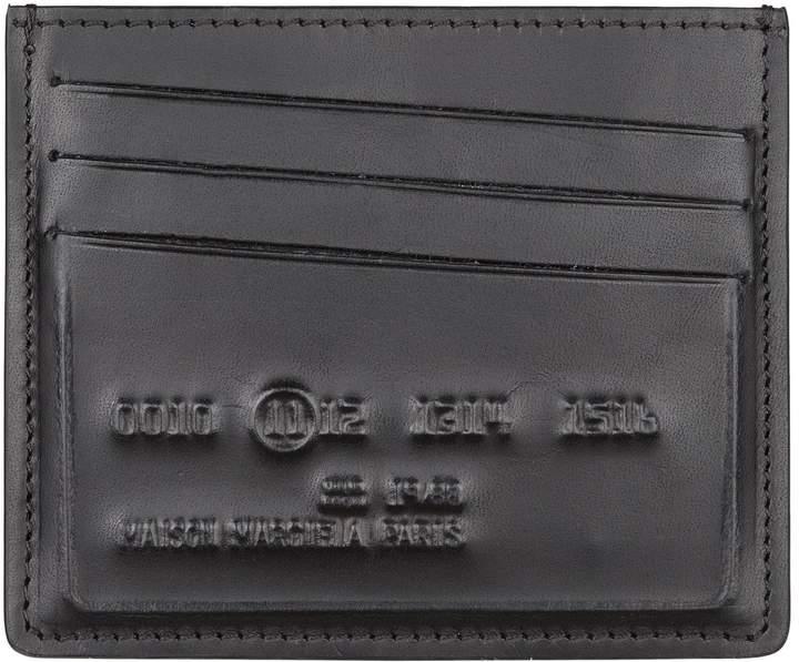 Maison Margiela Embossed Logo Leather Card Holder