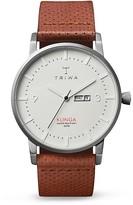 Triwa Klinga Perforated Leather Strap Watch, 38mm