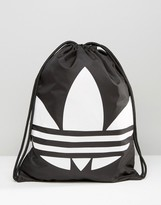 Adidas Originals Drawstring Backpack In Black Aj8986