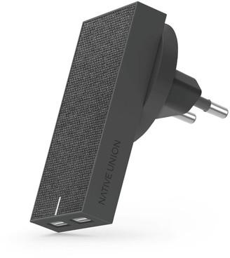 Native Union Smart Dual Port USB Fabric Charger - Slate