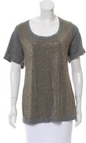 Torn By Ronny Kobo Embellished Scoop Neck T-Shirt w/ Tags